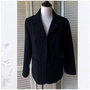 EUC Black pea Wool Coat from American Eagle Sz L